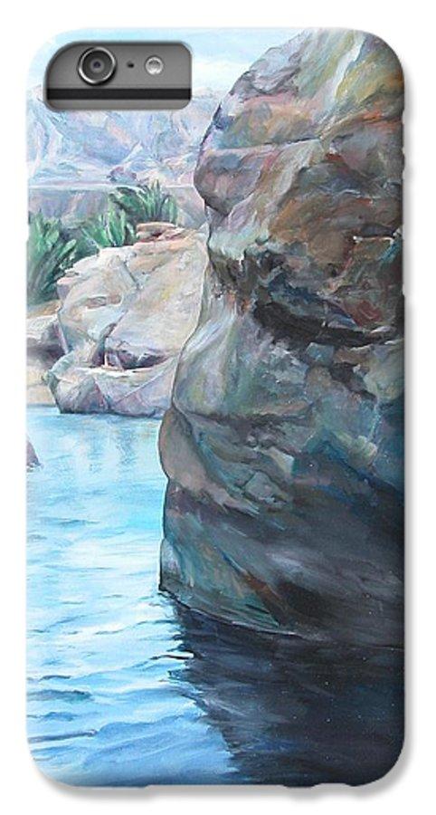 Landscape IPhone 7 Plus Case featuring the painting Canyon by Muriel Dolemieux