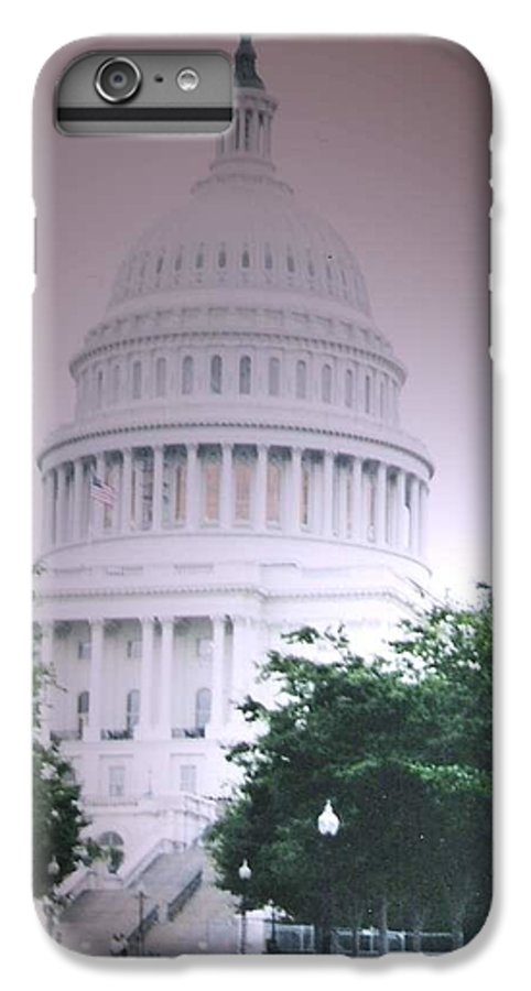 Capitol IPhone 7 Plus Case featuring the photograph Capitol In Pink by Pharris Art