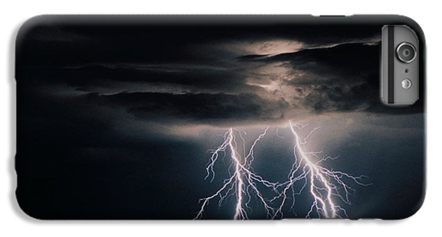 Arizona IPhone 7 Plus Case featuring the photograph Carefree Lightning by Cathy Franklin