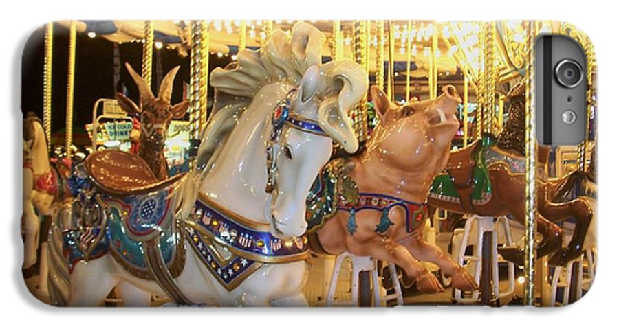 Carosel Horse IPhone 7 Plus Case featuring the photograph Carousel Horse 2 by Anita Burgermeister