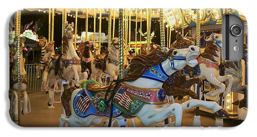 Carousel Horse IPhone 7 Plus Case featuring the photograph Carousel Horse 3 by Anita Burgermeister