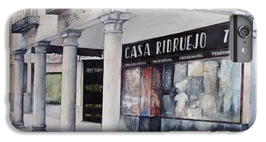Casa IPhone 7 Plus Case featuring the painting Casa Ridruejo Arevalo by Tomas Castano