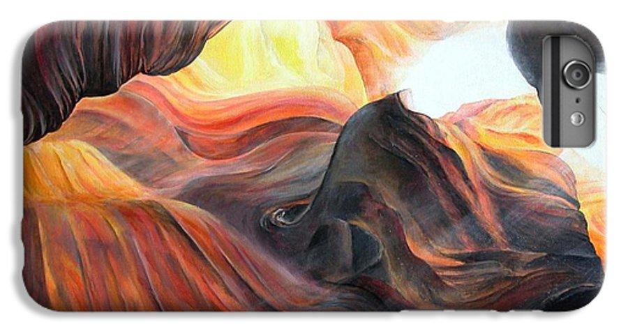 Landscape IPhone 7 Plus Case featuring the painting Caverne by Muriel Dolemieux