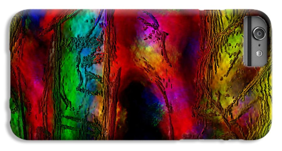 Abstract IPhone 7 Plus Case featuring the painting Caverns Of The Mind by Dee Flouton