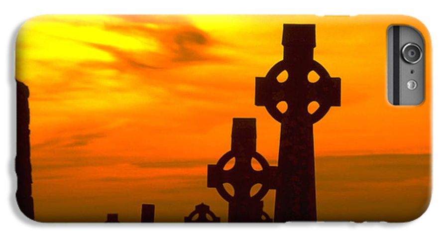 Christian IPhone 7 Plus Case featuring the photograph Celtic Crosses In Graveyard by Carl Purcell