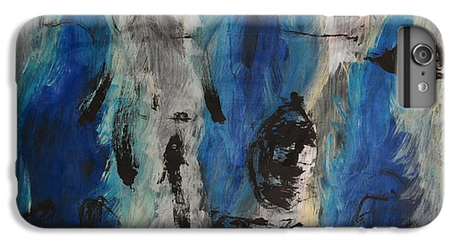 Abstract IPhone 7 Plus Case featuring the painting Chaos by Lauren Luna