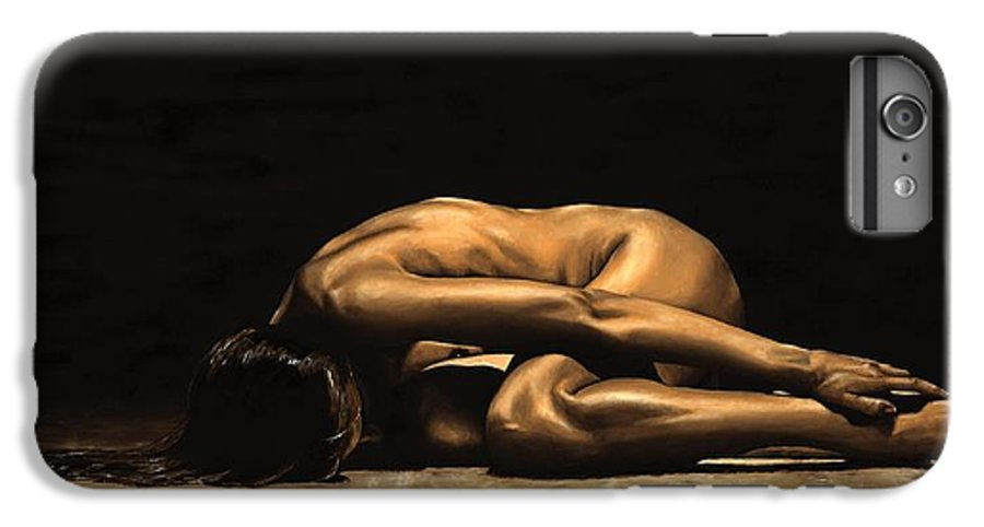 Nude IPhone 7 Plus Case featuring the painting Chastity by Richard Young
