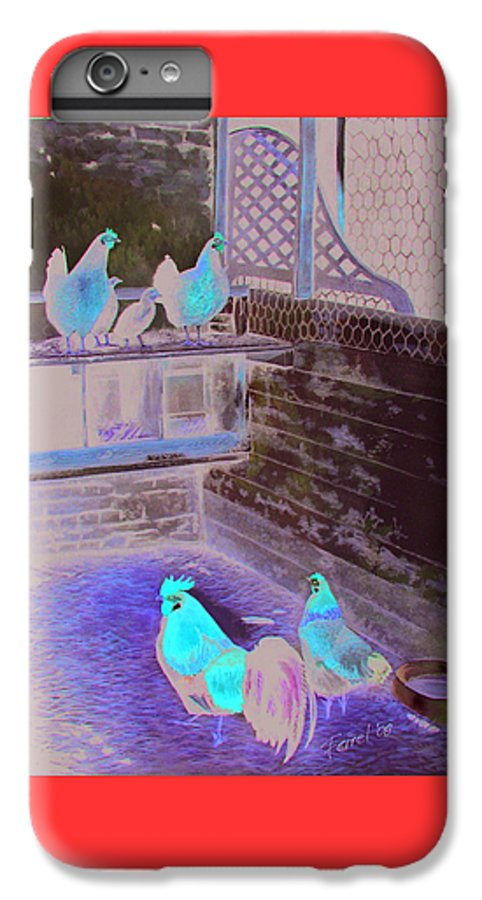 Far IPhone 7 Plus Case featuring the painting Chicken Coop by Ferrel Cordle