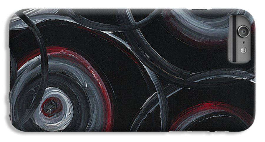 Circles IPhone 7 Plus Case featuring the painting Choices In Black by Nadine Rippelmeyer