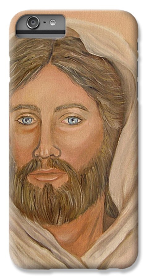 Christ IPhone 7 Plus Case featuring the painting Christ by Quwatha Valentine