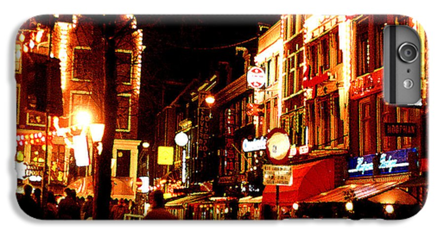 Night IPhone 7 Plus Case featuring the photograph Christmas In Amsterdam by Nancy Mueller