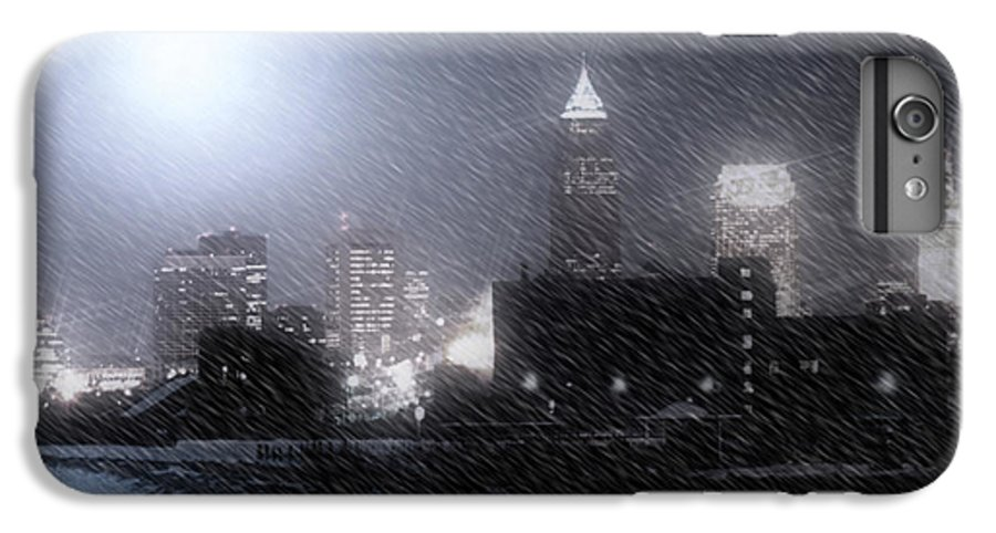 Cleveland IPhone 7 Plus Case featuring the photograph City Bathed In Winter by Kenneth Krolikowski