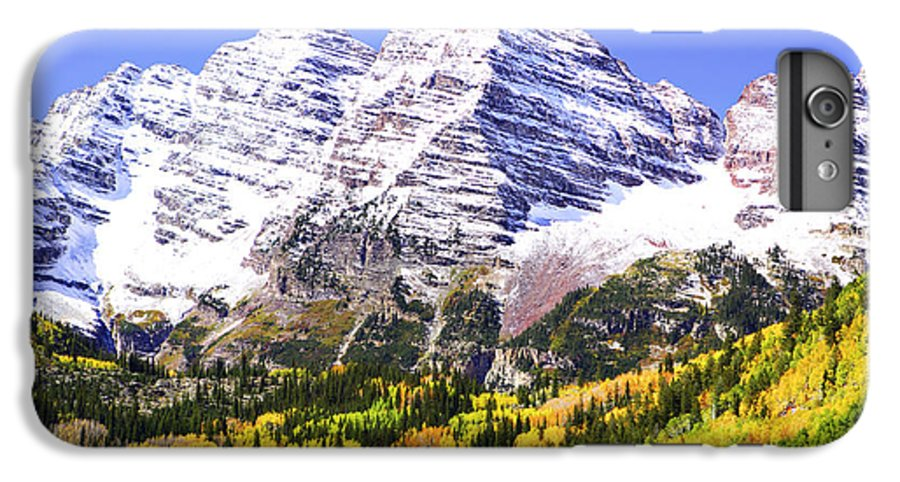 Americana IPhone 7 Plus Case featuring the photograph Classic Maroon Bells by Marilyn Hunt