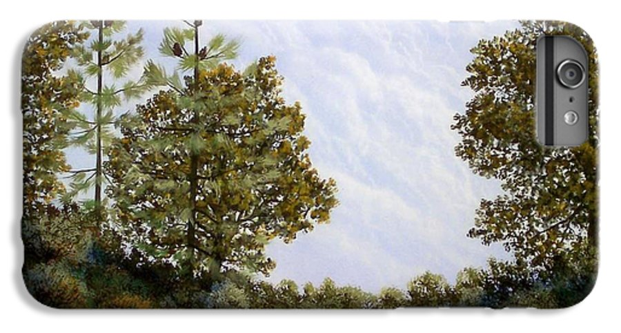 Landscape IPhone 7 Plus Case featuring the painting Clouds In Foothills by Frank Wilson