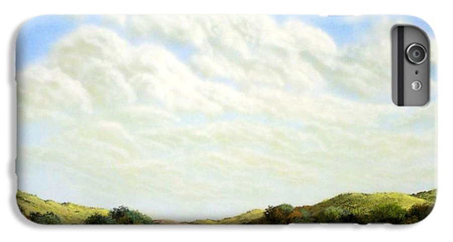 Landscape IPhone 7 Plus Case featuring the painting Clouds Of Spring by Frank Wilson