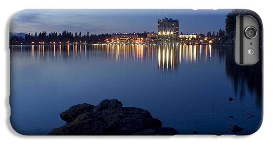Skyline IPhone 7 Plus Case featuring the photograph Coeur D Alene Skyline Night by Idaho Scenic Images Linda Lantzy