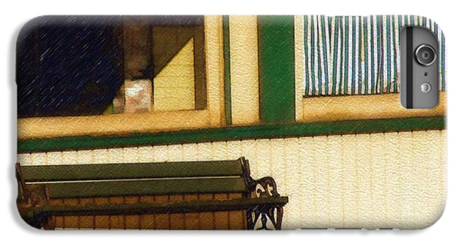 Bench IPhone 7 Plus Case featuring the photograph Come Sit A Spell by Sandy MacGowan