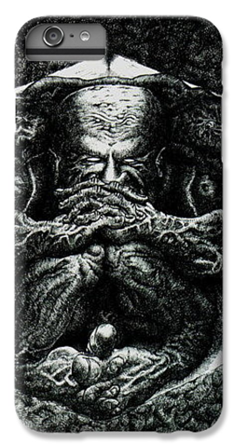 Dark IPhone 7 Plus Case featuring the drawing Contemplation by Tobey Anderson