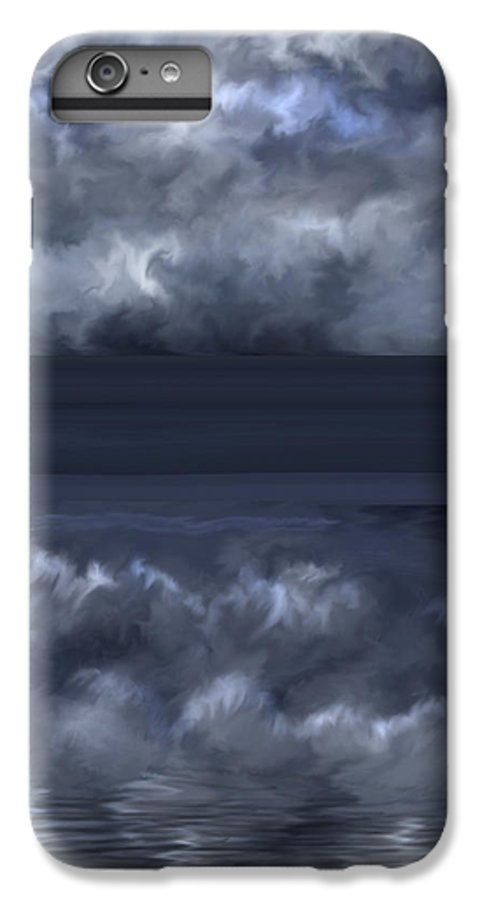 Seascape IPhone 7 Plus Case featuring the painting Convergence Zone by Anne Norskog