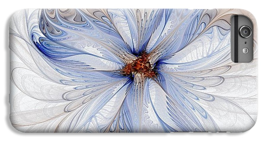 Digital Art IPhone 7 Plus Case featuring the digital art Cornflower Blues by Amanda Moore
