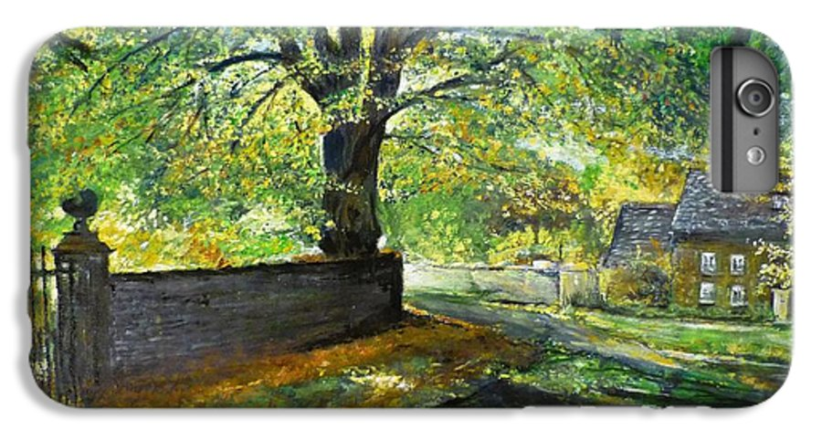 Landscape IPhone 7 Plus Case featuring the painting Cotswold Lane by Lizzy Forrester