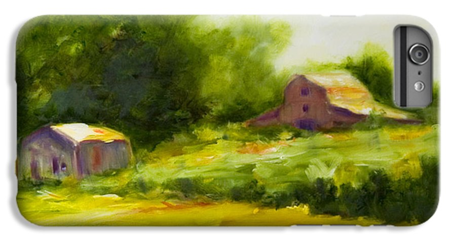 Landscape In Green IPhone 7 Plus Case featuring the painting Courage by Shannon Grissom