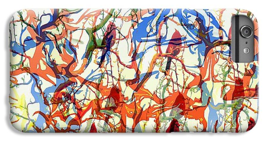 Birds IPhone 7 Plus Case featuring the digital art Crazy Cardinals by Shelley Jones