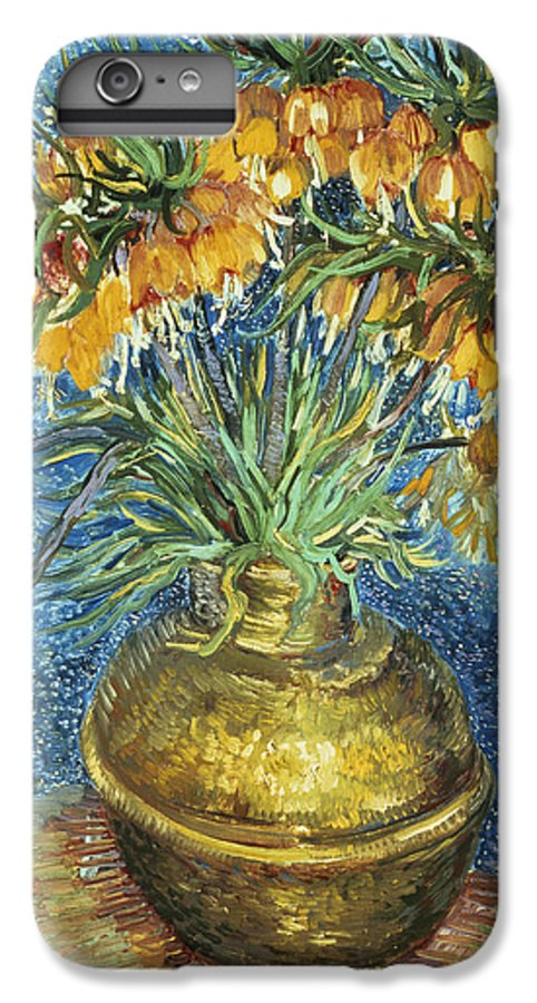 Crown IPhone 7 Plus Case featuring the painting Crown Imperial Fritillaries In A Copper Vase by Vincent Van Gogh