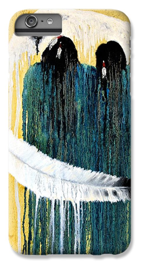 Native American IPhone 7 Plus Case featuring the painting Crying For A Vision by Patrick Trotter