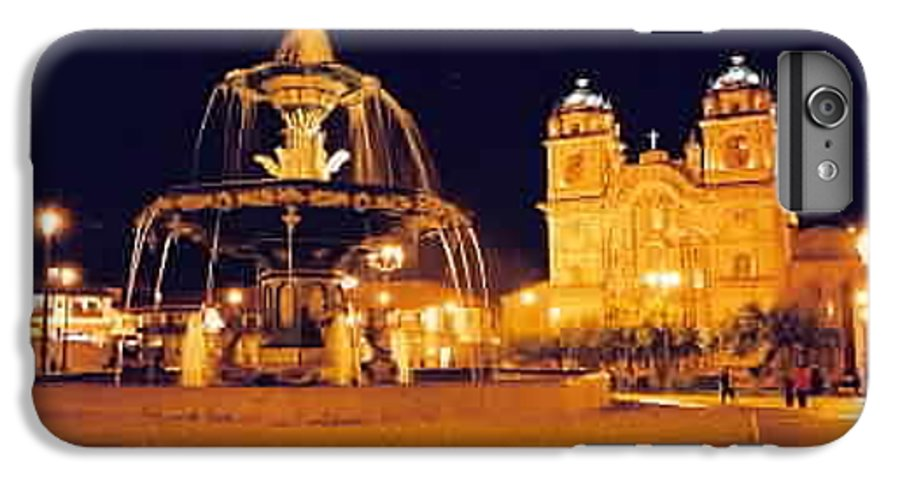 Night IPhone 7 Plus Case featuring the photograph Cusco Peru by Kathy Schumann