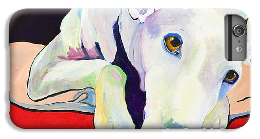 Animals Pets Greyhound IPhone 7 Plus Case featuring the painting Cyrus by Pat Saunders-White
