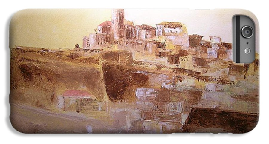 Original Cityscpae IPhone 7 Plus Case featuring the painting D Alt Vila Ibiza Old Town by Lizzy Forrester