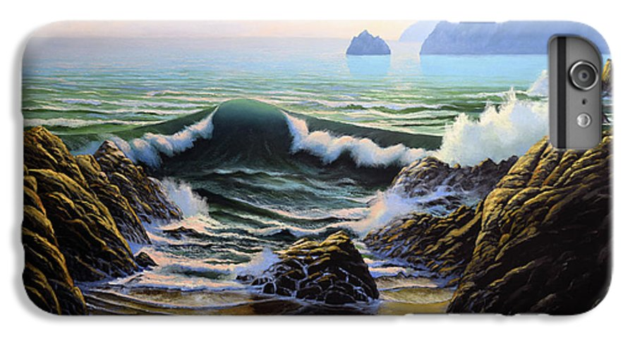 Dancing Tide IPhone 7 Plus Case featuring the painting Dancing Tide by Frank Wilson