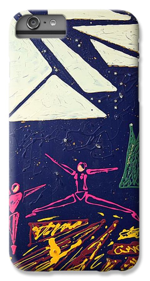 Dancers IPhone 7 Plus Case featuring the mixed media Dancing Under The Starry Skies by J R Seymour