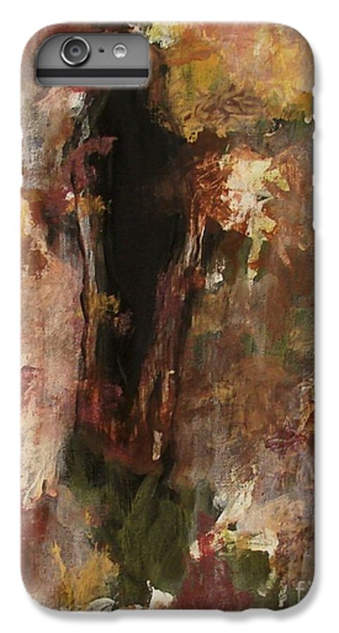 Abstract IPhone 7 Plus Case featuring the painting Dark Presence by Itaya Lightbourne