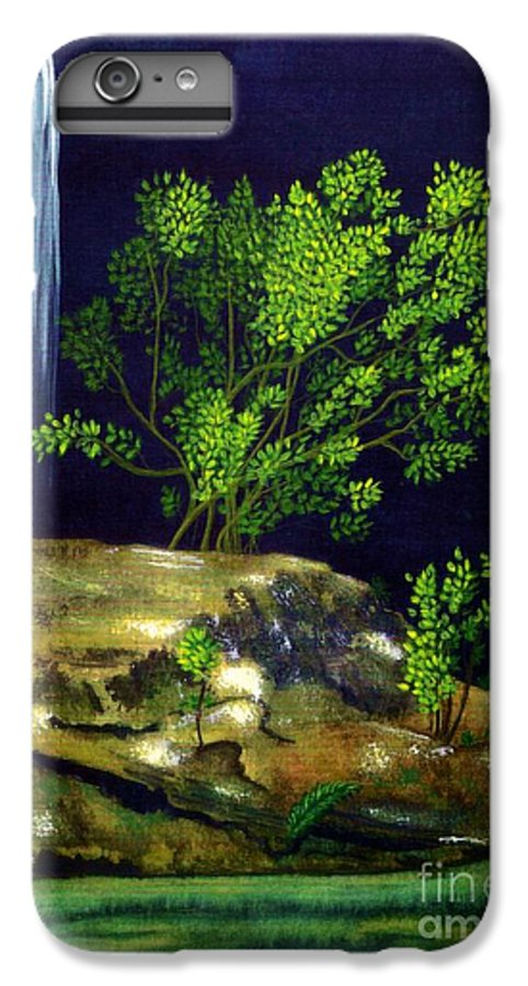 Fine Art IPhone 7 Plus Case featuring the painting Dark Waters by Patricia Griffin Brett