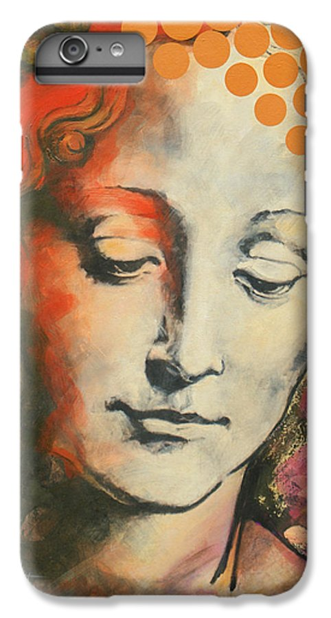 Figurative IPhone 7 Plus Case featuring the painting Davinci's Head by Jean Pierre Rousselet