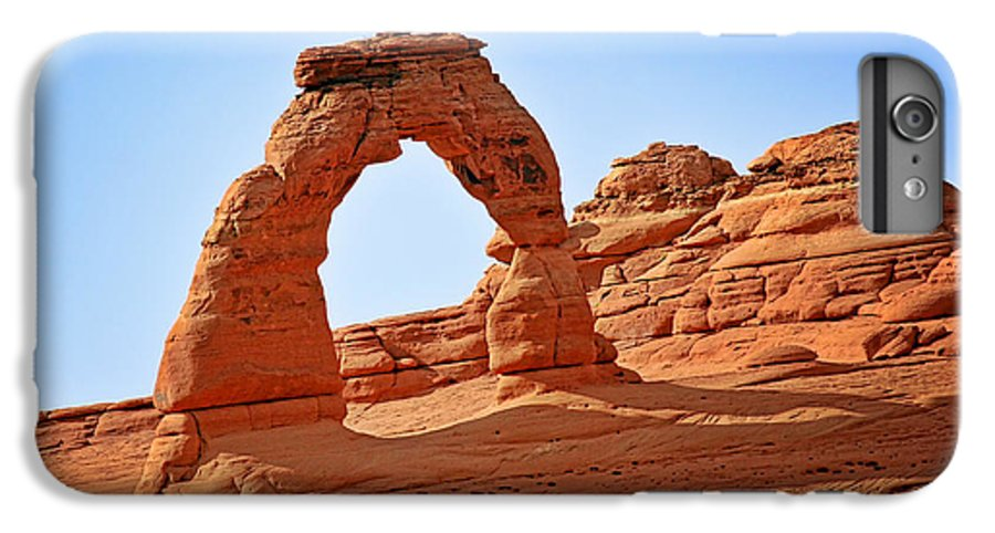 Landscape IPhone 7 Plus Case featuring the photograph Delicate Arch The Arches National Park Utah by Christine Till