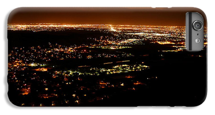 Clay IPhone 7 Plus Case featuring the photograph Denver Area At Night From Lookout Mountain by Clayton Bruster