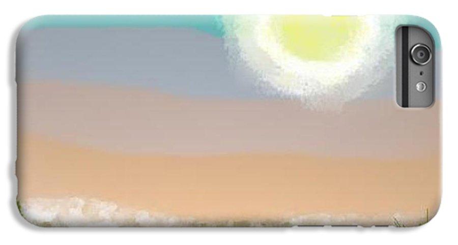 Sky.moon.desert.rest.silence.sand.prickles.moonlight. IPhone 7 Plus Case featuring the digital art Desert.night.moon by Dr Loifer Vladimir