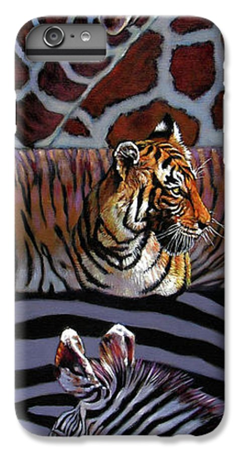 Animals IPhone 7 Plus Case featuring the painting Designs For Defense And Offense by John Lautermilch