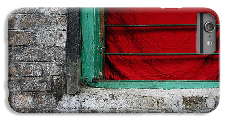Red IPhone 7 Plus Case featuring the photograph Dharamsala Window by Skip Hunt