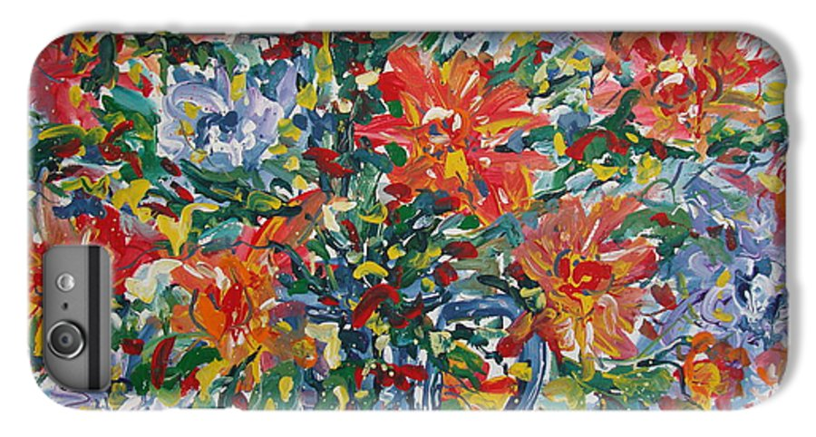 Painting IPhone 7 Plus Case featuring the painting Divine Happiness. by Leonard Holland
