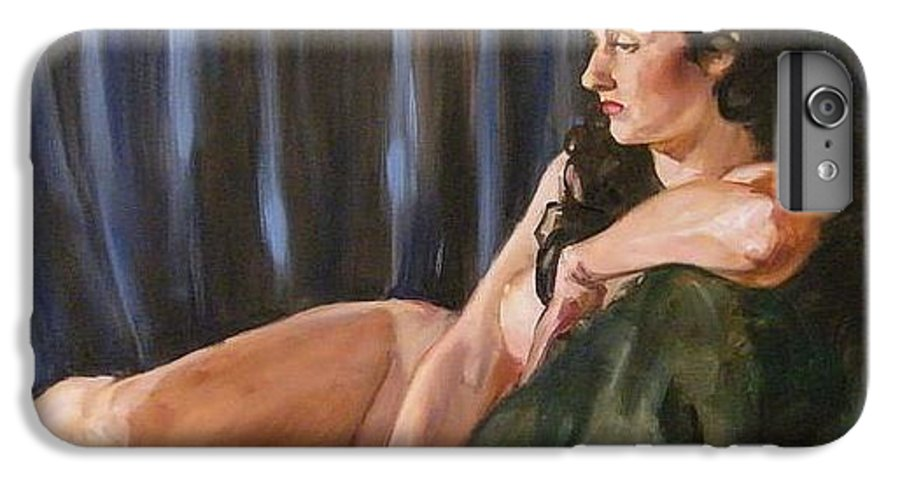 Nude IPhone 7 Plus Case featuring the painting Dolly by Debra Jones