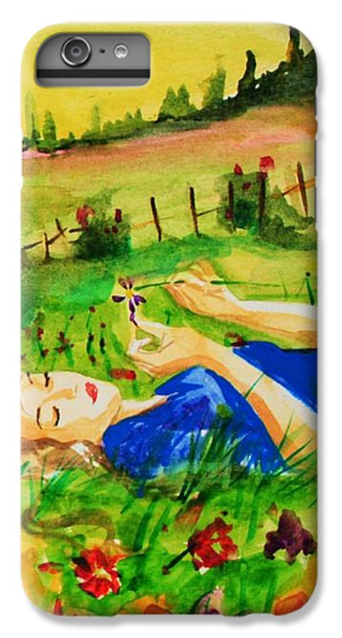 Landscape IPhone 7 Plus Case featuring the painting Dreaming by Laura Rispoli