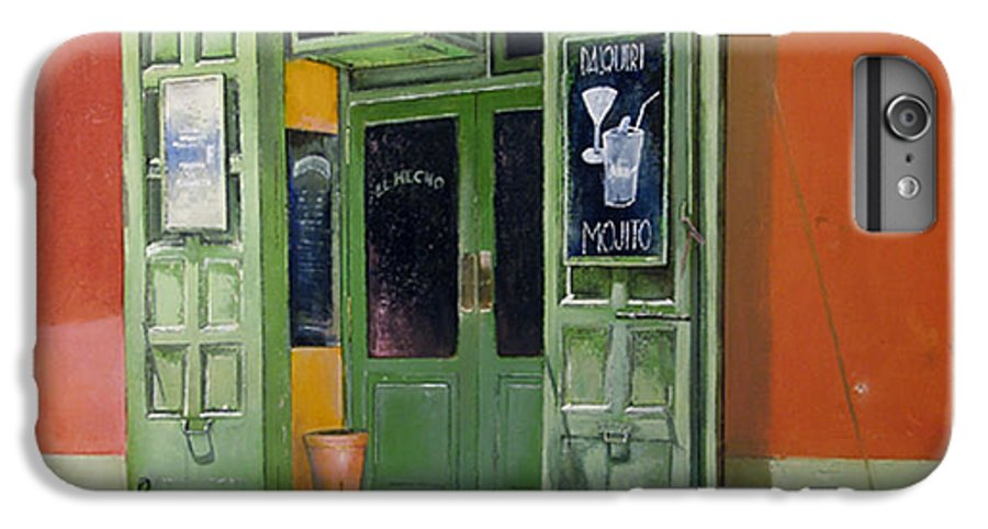 Hecho IPhone 7 Plus Case featuring the painting El Hecho Pub by Tomas Castano