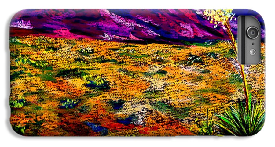 Yucca IPhone 7 Plus Case featuring the painting El Paso by Melinda Etzold
