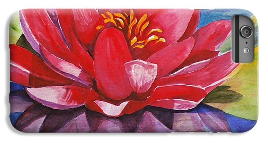 Lily IPhone 7 Plus Case featuring the painting Ela Lily by Jun Jamosmos