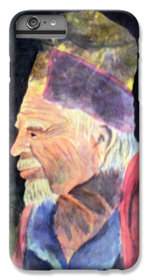 Elder IPhone 7 Plus Case featuring the painting Elder by Susan Kubes
