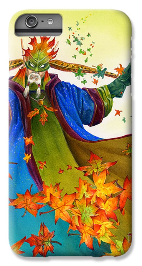 Elf IPhone 7 Plus Case featuring the painting Elven Mage by Melissa A Benson